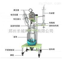 供應多種型號雙層玻璃反應釜