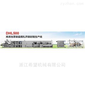 DHL500高速泡罩裝盒捆紮開裝封箱生産線